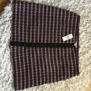 New  Loft Tweed Button skirt